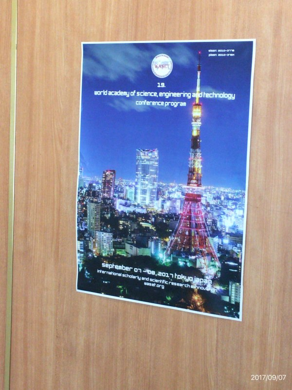 Photos of Advances in Computer Engineering and Technology in Tokyo #45